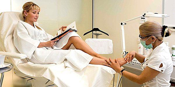 odstranění laserové ošetření zarostlých nehtů